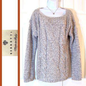 Berretti | Alpaca Wool Blend Chunky Knit Sweater